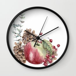 Winter Composition Wall Clock