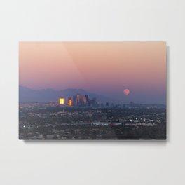 Los Angeles Supermoon Metal Print