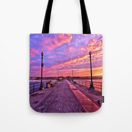 Sunrise Huntington Beach Pier   11/12/13 Tote Bag