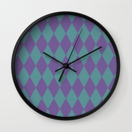 Blue & purple losange  Wall Clock