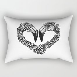 Flamingo Heart Rectangular Pillow