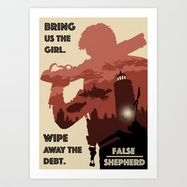 """False Shepherd"" BioShock Infinite Art Print"