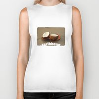 coconut wishes Biker Tanks featuring Coconut by cinema4design