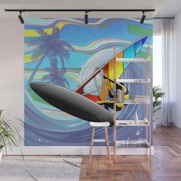 Windsurfer on Ocean Waves Wall Mural