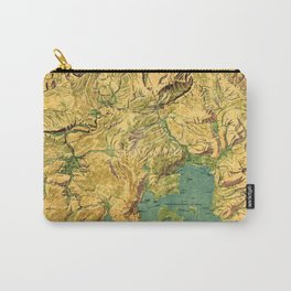 Panoramic Map of Yellowstone National Park Carry-All Pouch
