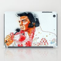 elvis presley iPad Cases featuring Elvis presley by calibos