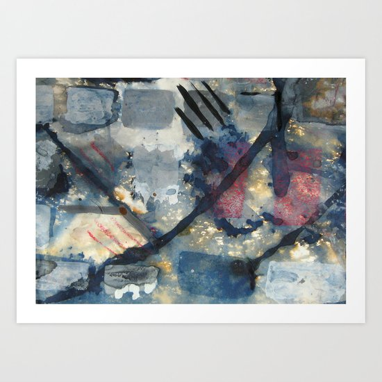 Battle of the squares Art Print