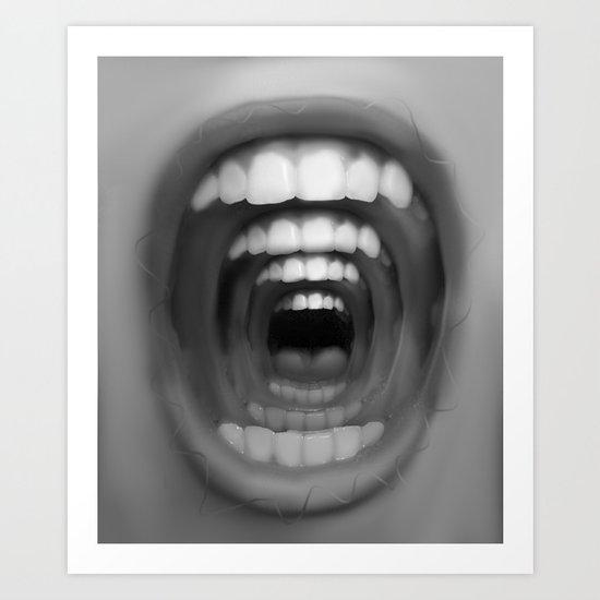 Mouthception Art Print