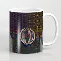 globe Mugs featuring Bubble Globe by Khana's Web