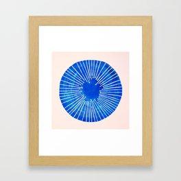 Blue Circle Framed Art Print