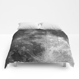 Black & White Moon Comforters