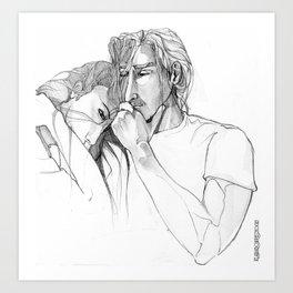 Thoughtful men Art Print