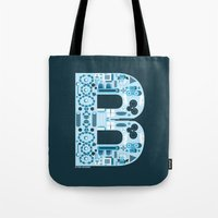 ben giles Tote Bags featuring Ben by jonathanMORFFI