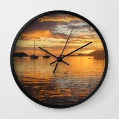 Sunrise on the Sea of Cortez. Wall Clock