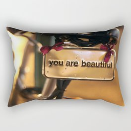 You Are Beautiful Rectangular Pillow