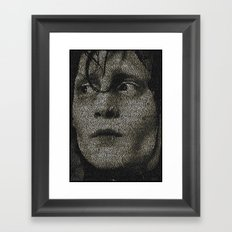 Edward Scissorhands Screenplay Print Framed Art Print