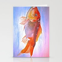goldfish Stationery Cards featuring Goldfish by Jaime Viens