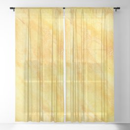 Watercolour Marble, Abstract watercolour art Sheer Curtain