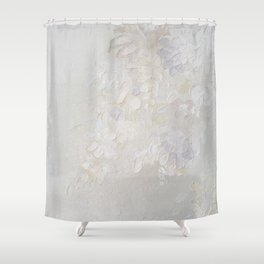 Flowers in white Shower Curtain