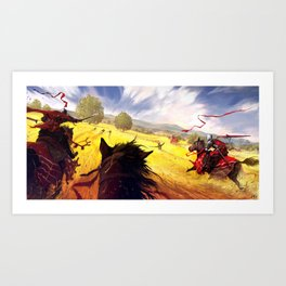 Yellow Charge Art Print