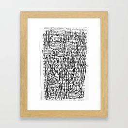 Hoping was a Burden Framed Art Print