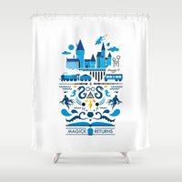 returns Shower Curtains featuring Magick Returns by Aphichat Treetaruyanon