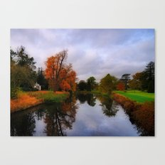 Autumn Reflections at Wrest Park Canvas Print