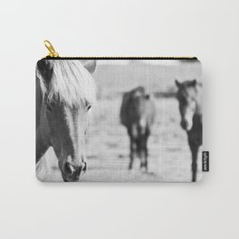 B&W horses Carry-All Pouch