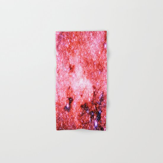 Pink GALaXY Stars Hand & Bath Towel