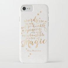 Dumbledore's Magic Words iPhone 7 Slim Case