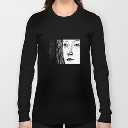 Queen Katherine of Aragon Portrait  Long Sleeve T-shirt