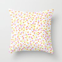 charmaine olivia Throw Pillows featuring Olivia by Nikki Choi