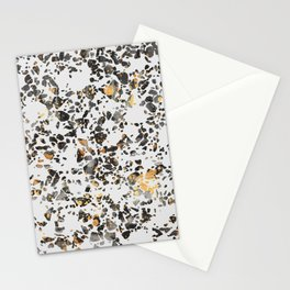Gold Speckled Terrazzo Stationery Cards