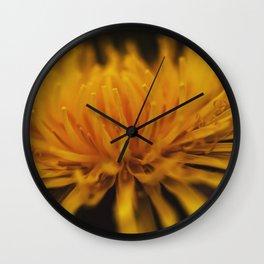 yellow, yellow dandelion Wall Clock