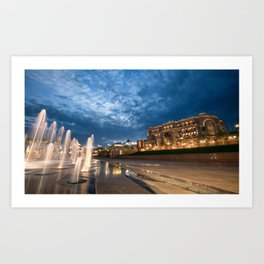 Emirates Palace at Twilight Art Print