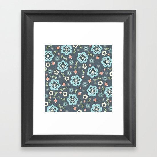 Whimsy Floral Framed Art Print
