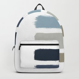 Blue & Taupe Stripes Backpack