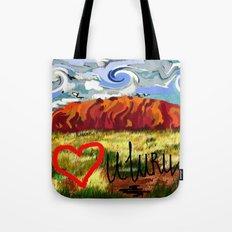 I love Uluru Tote Bag