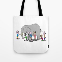 Blind Men and an Elephant Famous Story Tale Design Tote Bag