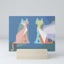 Mirror Siames Mini Art Print
