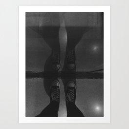 Sneaker Reflection Art Print