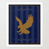 ravenclaw Art Prints featuring Ravenclaw by Winter Graphics