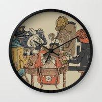 poker Wall Clocks featuring Polaroid Poker by Romayne Robinson