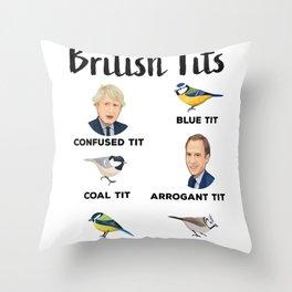 British Tits Bird Lover Funny Gift Boris Johnson Throw Pillow