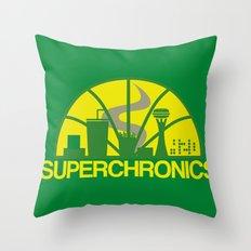 Superchronics Throw Pillow
