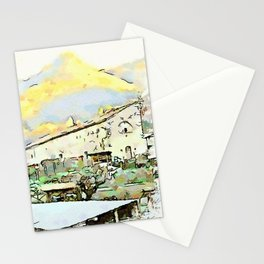Camerata Nuova: building and mountain Stationery Cards