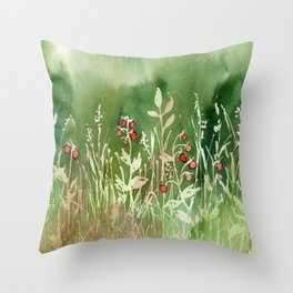 Strawberry Fields for an Indefinite Amount of Time Throw Pillow