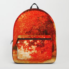 Tree Alley Autumn painted Backpack