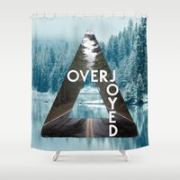 bastille Shower Curtains featuring Bastille - Overjoyed by Thafrayer