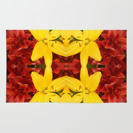 """""""A Gathering of Lilies"""" Remix - 3 (4-1) [D4468~49] Rug"""
